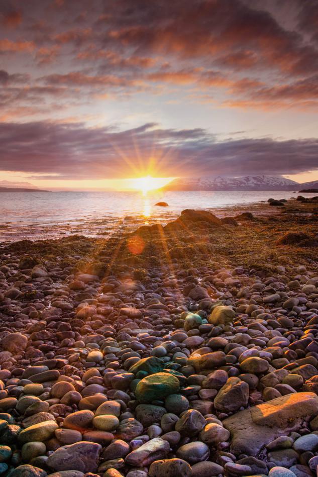 Island Akkureyri Mitternachtssonne
