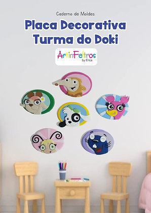 Caderno Moldes Placa Decorativa Turma Doki