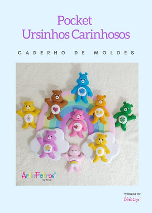 Caderno de Moldes Pocket Ursinhos Carinhosos