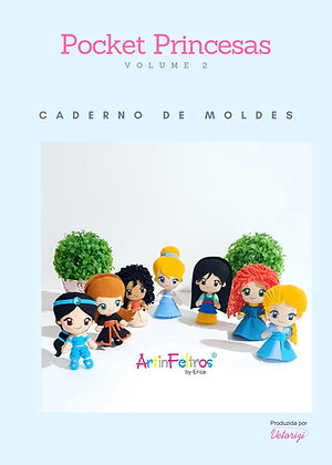 Caderno Moldes Pockets Princesas 2