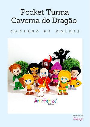 Caderno Moldes Pockets Caverna do Dragão