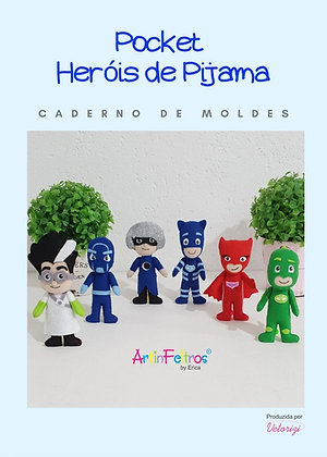 Caderno de Moldes Pockets Heróis de Pijama