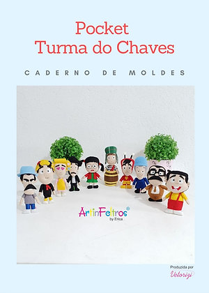 Caderno de Moldes Pocket Turma Chaves