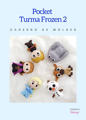 Caderno Moldes Pocket Frozen 2