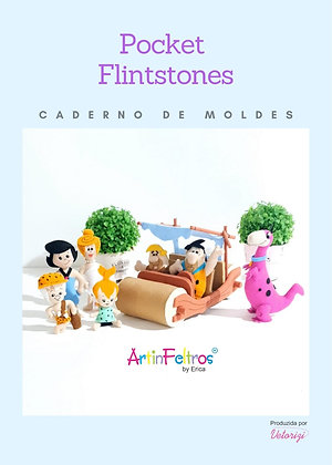 Caderno de Moldes Pockets Flintstones