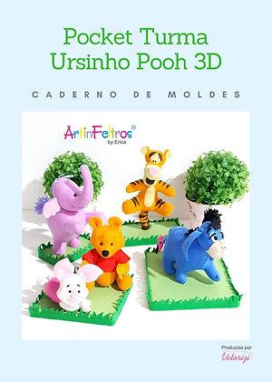 Caderno Moldes Ursinho Pohh 3D