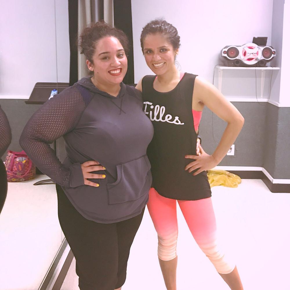 Megha and I after class.