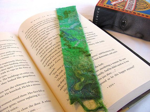 Wet Felted Bookmark