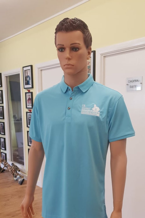 CHARITY ICE BLUE AMERICAN GOLF POLO SHIRT