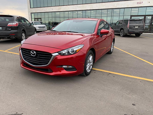 2017 Mazda 3 SE  W/REMOTE START/LEATHER INTERIOR/BACK UP CAMERA   ONLY 48,836 KM