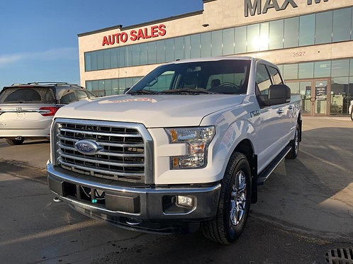 2016 Ford F150 XLT Supercrew 5.0L Crew Cab w/ Long Box       85,907 KM