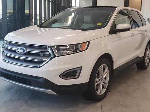 2018 Ford Edge Titanium 2.0L  B-Camera/ Nav/ Leather  49,517KM
