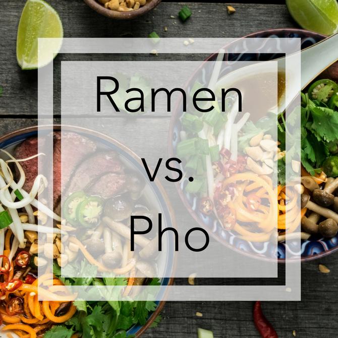 Ramen vs Pho