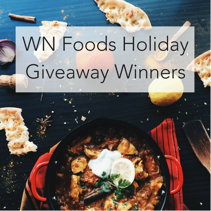 WN Foods 2017 Holiday Giveaway Winners!