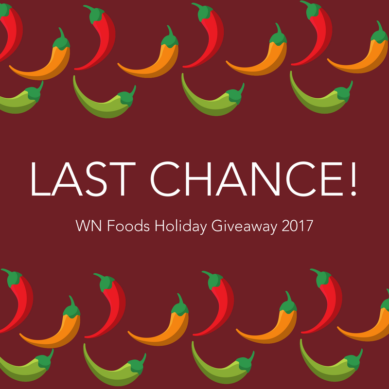 WN Foods Holiday Giveaway 2017 Free Sriracha Sauce