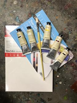 Starter set oil painting