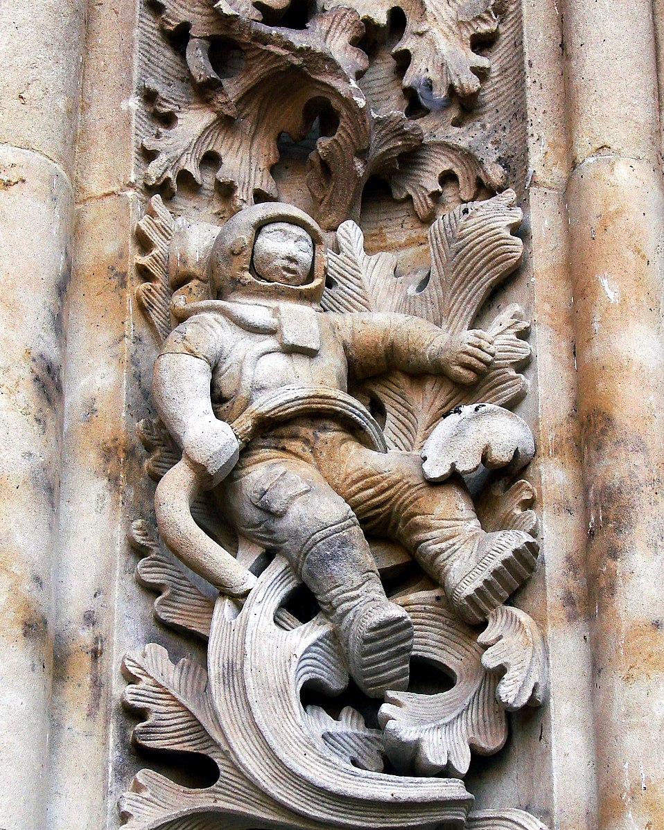 Astronaut on late Gothic church