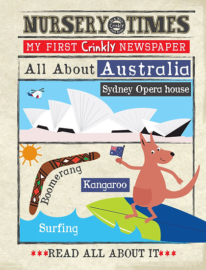 Nursery Times Crinkly Newspaper - All About Australia