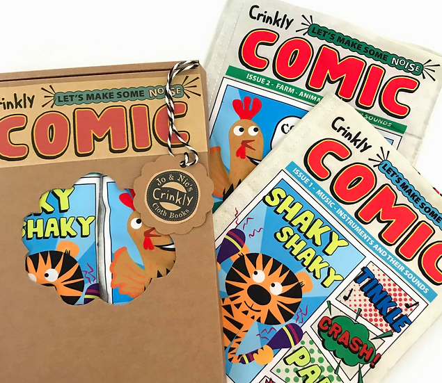 Comic Duo Box -  Nursery Times Crinkly Cloth Newspapers