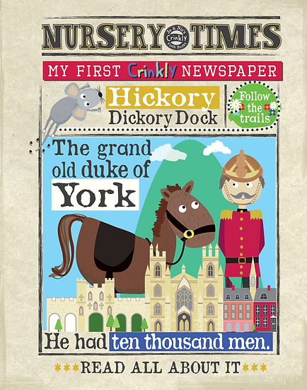 Nursery Times Crinkly Newspaper - Nursery Rhymes 2
