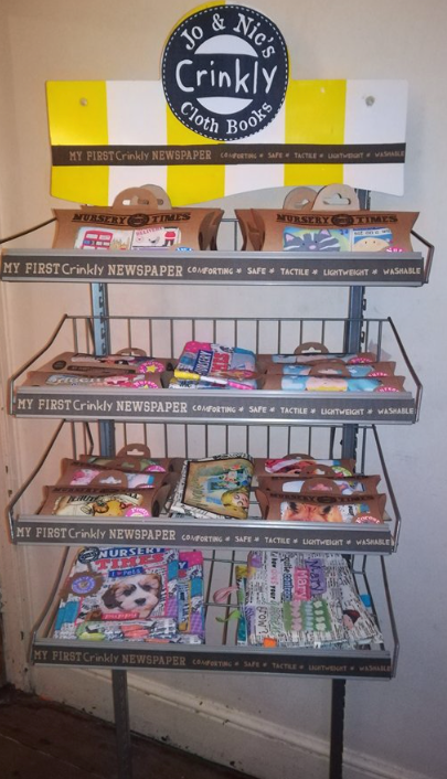 Nursery Times Crinkly newspaper cloth books for sale at £10 each @ The Frome Independent!