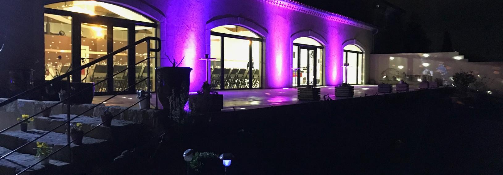 Eclairage personnalisé salle Alpilles