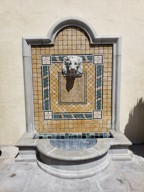 Fountain after treatment