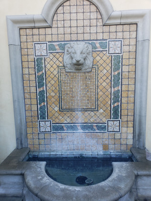 Fountain before treatment