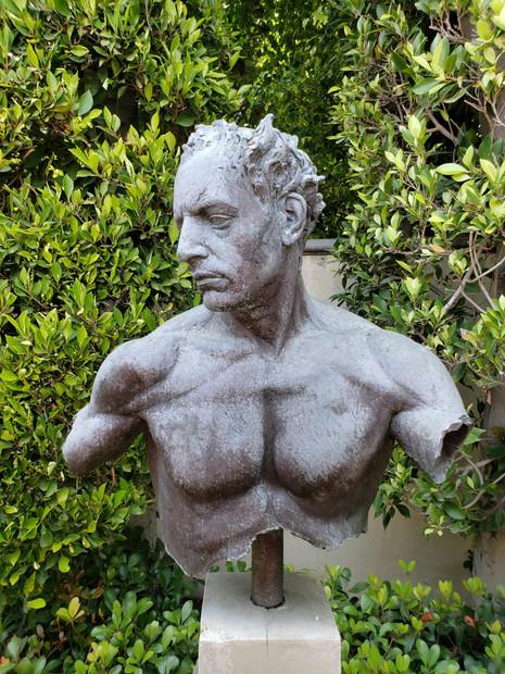 Bronze bust before treatment