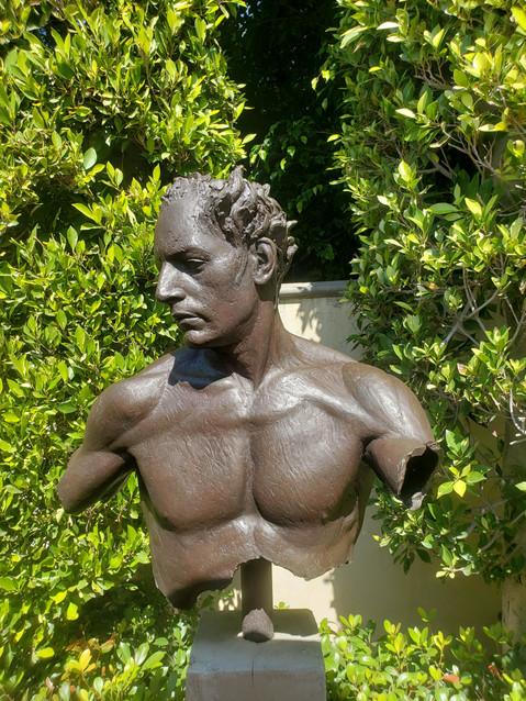 Bronze bust after treatment