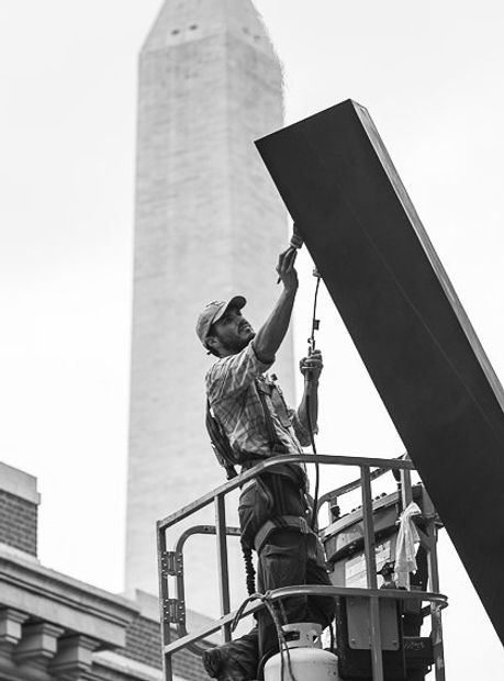 Holocaust memorial museum #conservator #artconservation #sculpture #patination #washingtondc