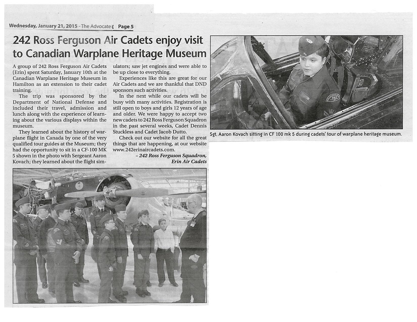 Warplane Museum Article Jan 21 2015 The Advocate.jpg