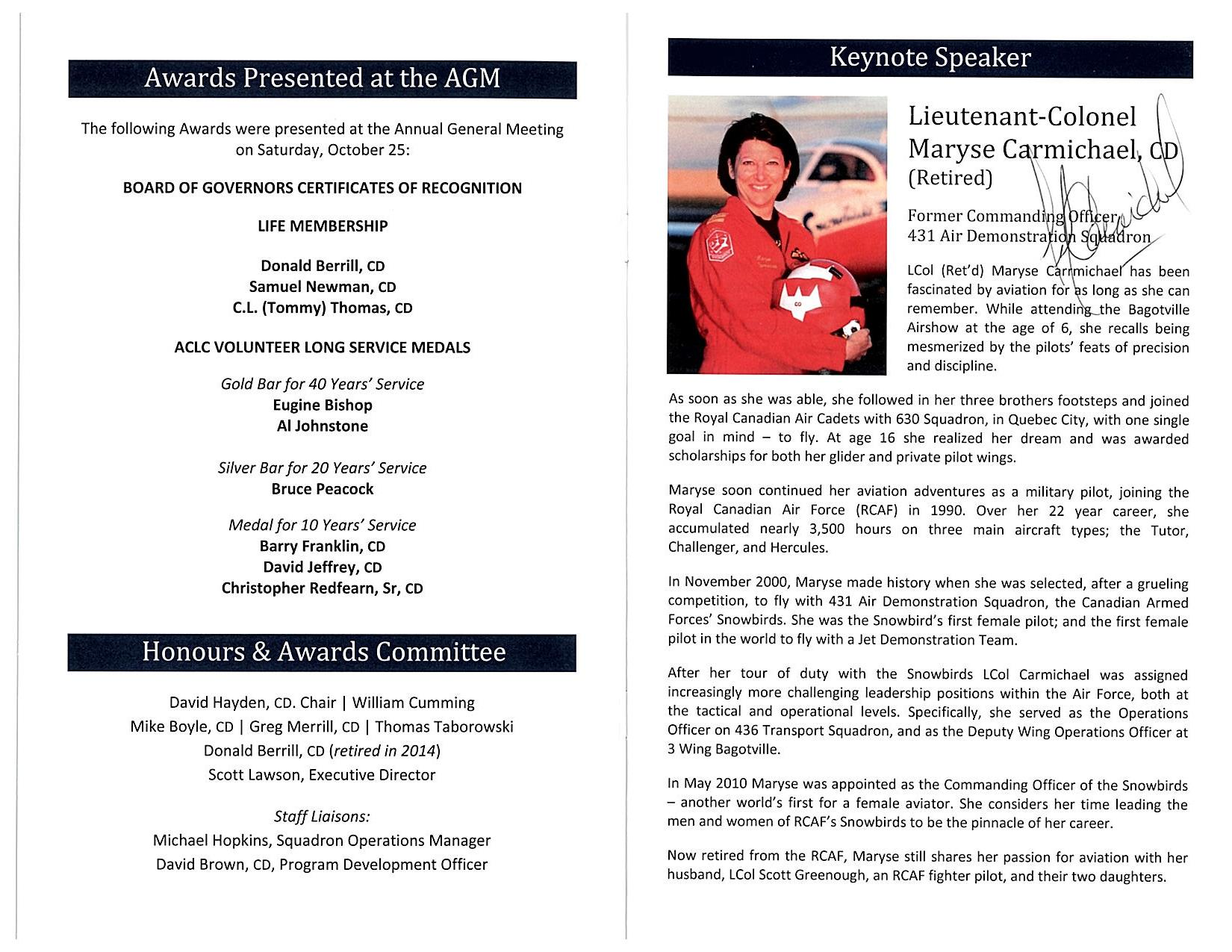 Awards Program page 2 signed by Keynote Speaker 2014.jpg