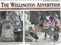2013 Remembrance Day Front Page