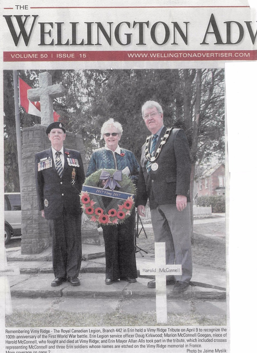 Vimy Wreath Laying