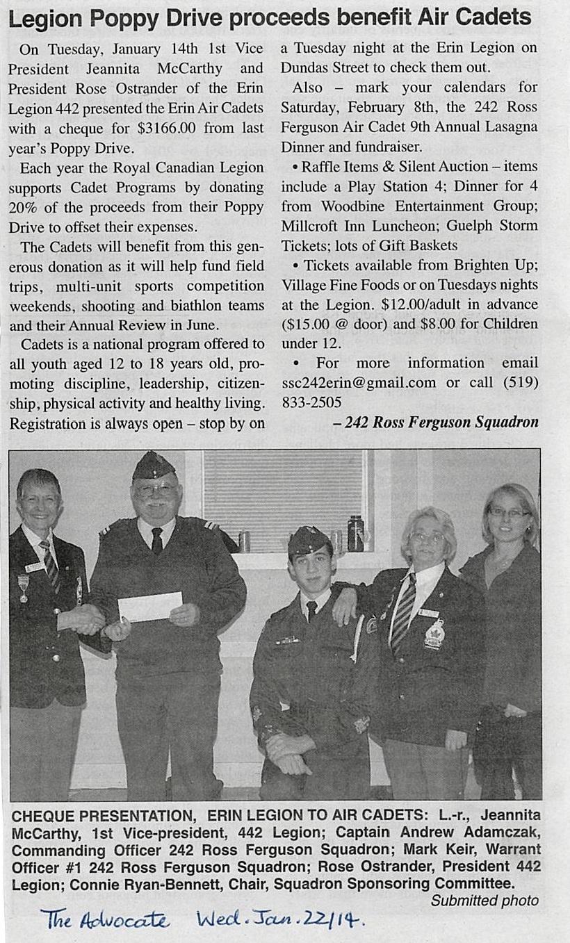 2014 Legion Donation