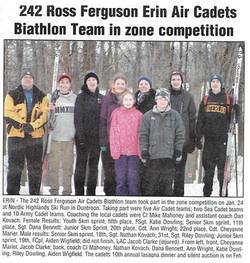 Wellington Advertiser Article Feb 20 2015 - Biathlon Team 2015 - January 28th Me