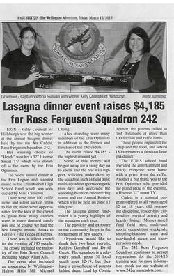 Wellington Advertiser - March 13 2015 - Lasagna Dinner Raises $4185.jpg