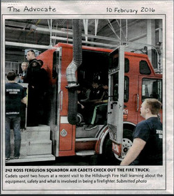 Fire Hall Visit 2016 - Advocate Article.JPG
