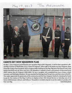 Squadron Flag Presentation