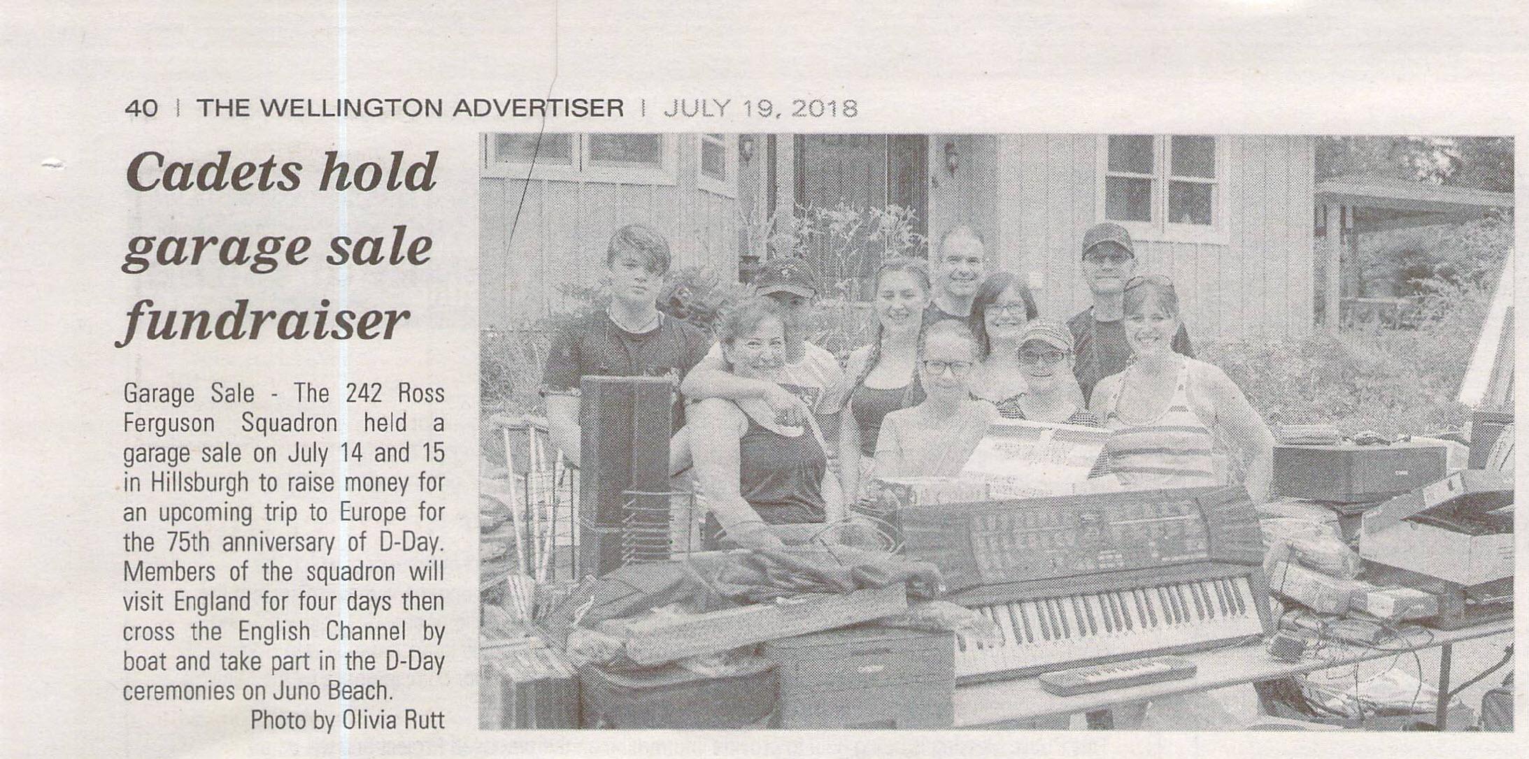 Cadets hold garage sale fundraiser July