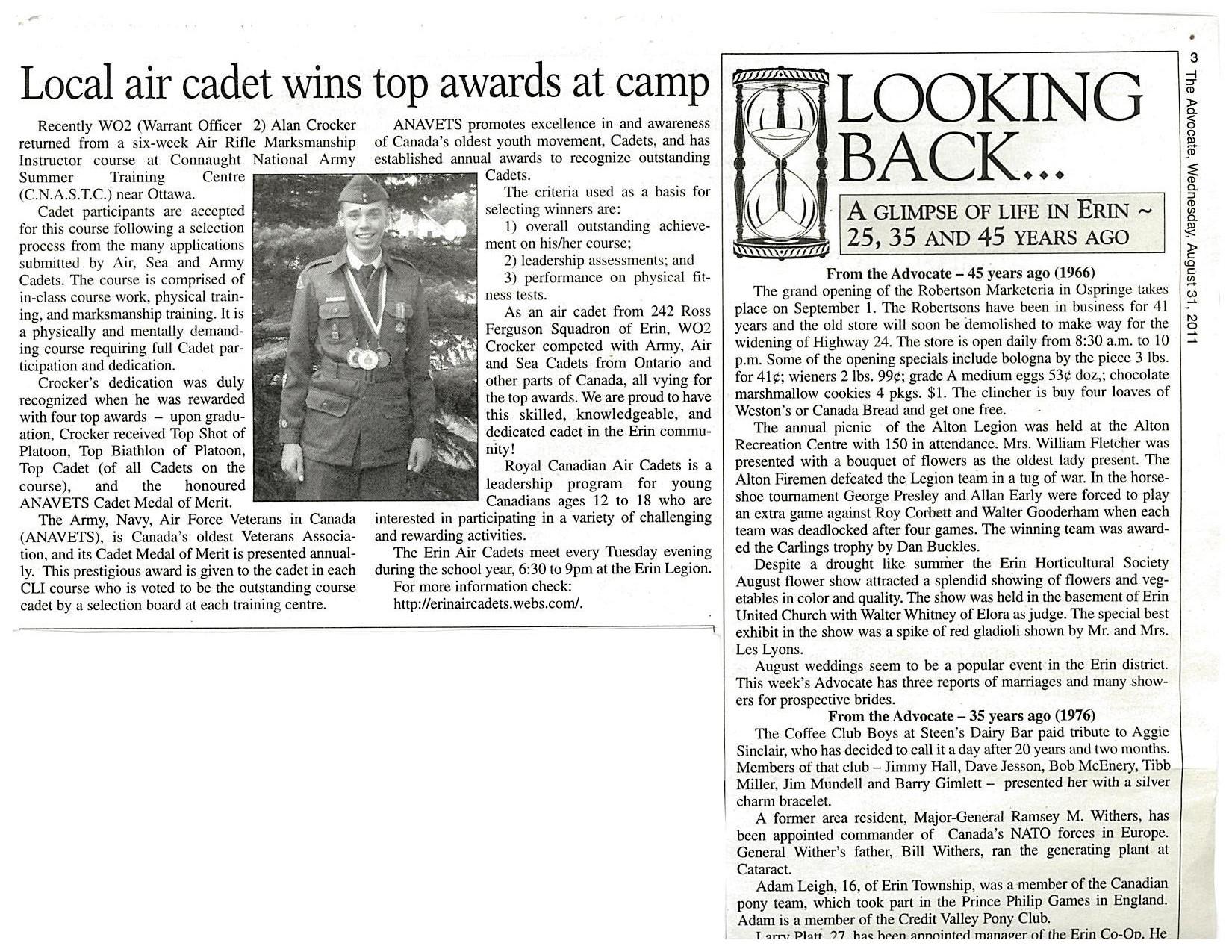 2011 Alan Crocker wins Top Awards