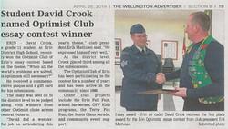 FSgt Crook - Optimist Essay Winner