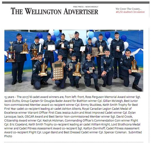 Wellington Advertiser - 15 years - Annua