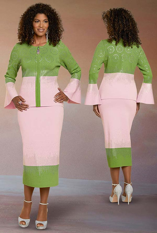 13298 - 2pc Jacket & Skirt Set