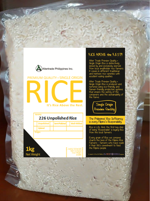 (Unpolished) Traditional Rice.  Variety: 226