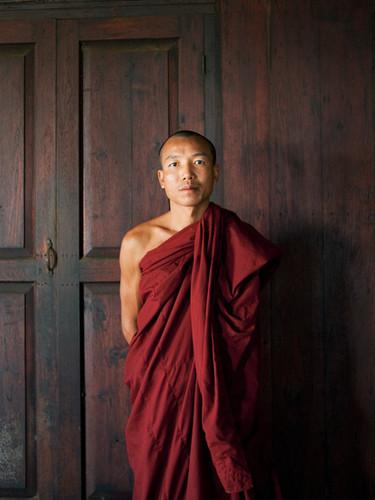 Porträt eines buddhistischen Mönchs