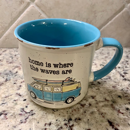 Home Is Where The Waves Are Mug