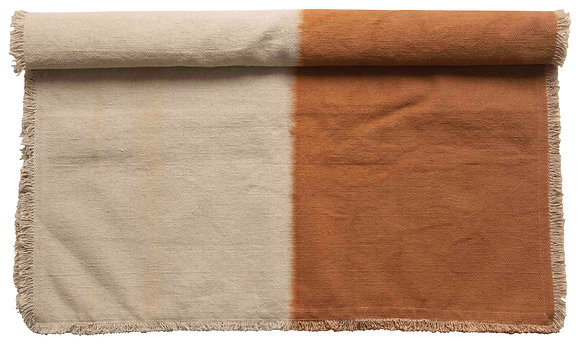 3' x 5' Cotton Canvas Dip-Dyed Rug DF2407