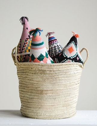 Hand Woven Moroccan Basket with Handles  DA8848